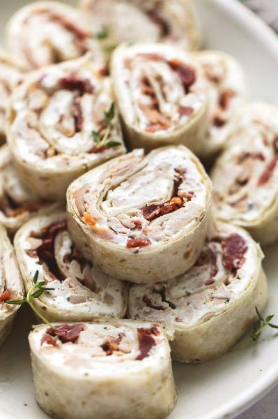 chicken bacon ranch pinwheels