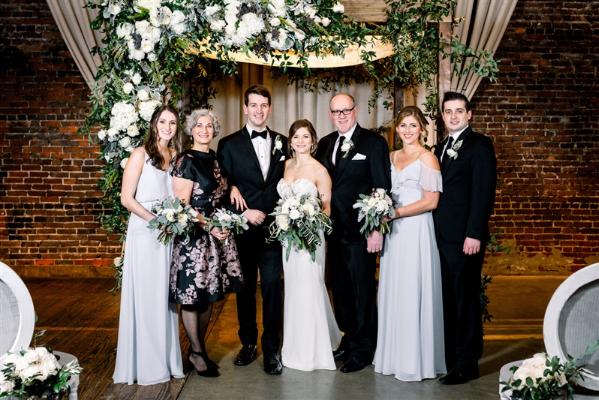 lauren and yitzi wedding party